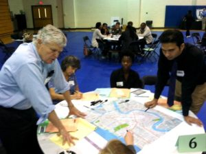 The initial Livable Claiborne Communities study workshop held at Dillard University.