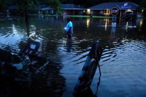 Scene from recent flooding across Louisiana.